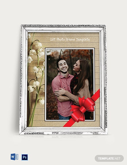 Free Gift Photo Frame Template