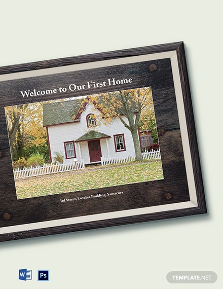 Free Housewarming Photo Frame Template