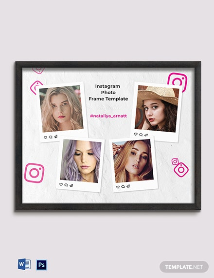 Free Instagram Photo Frame Template