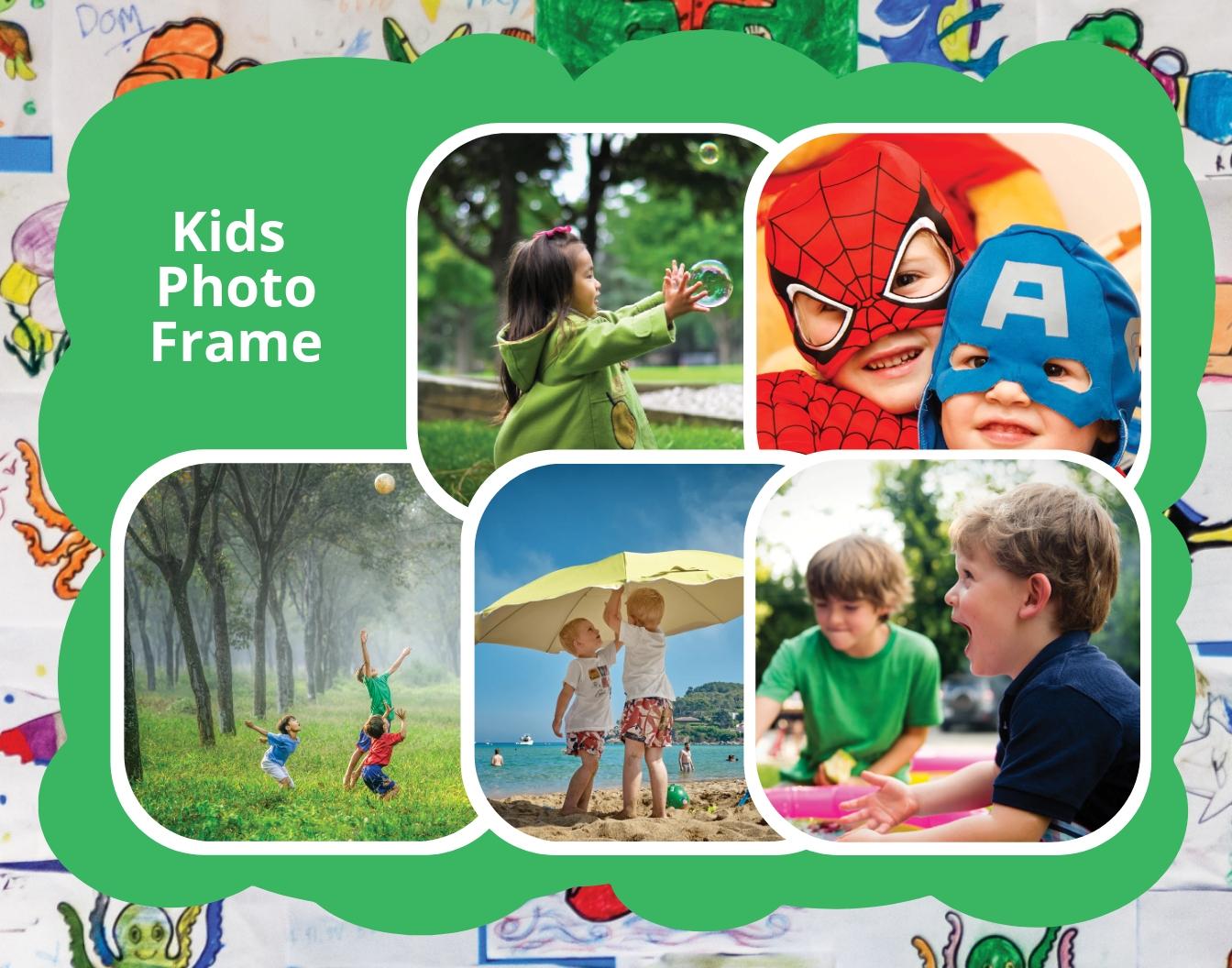 Kids Photo Frame Template