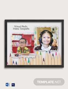 Free School Photo Frame Template