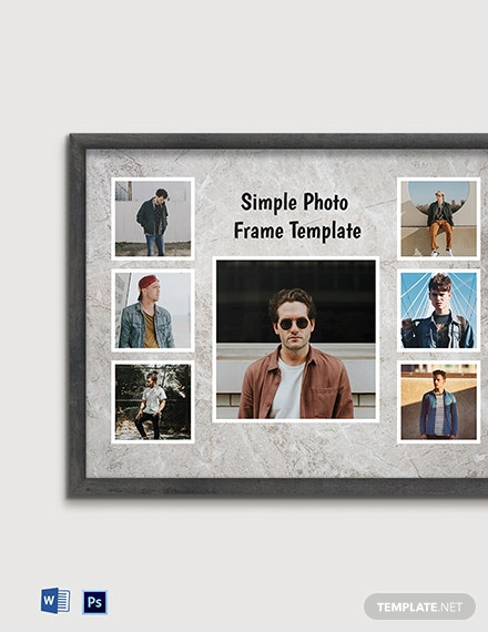 Free Simple Photo Frame Template