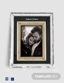 Free Vintage Photo Frame Template