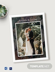 Free Wedding Photo Frame Template