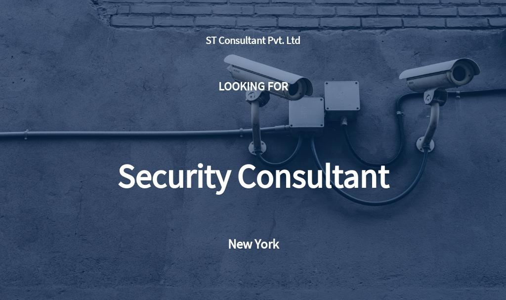 Security Consultant Job Description Template