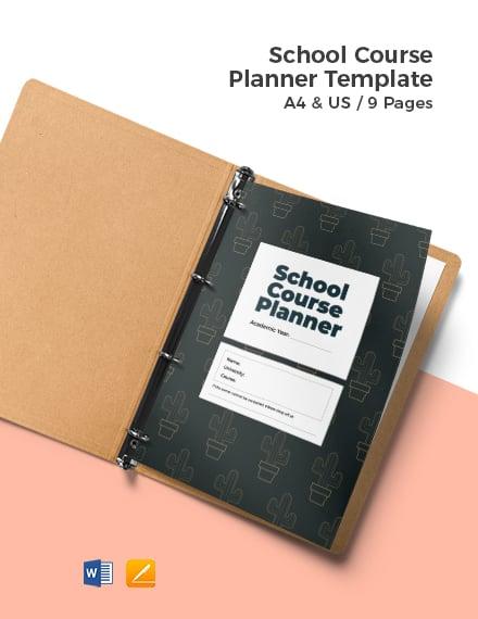 School Course Planner Template