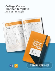 College Course Planner Template