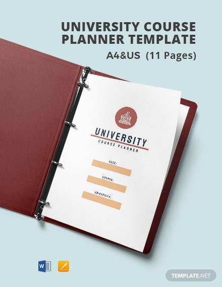 University Course Planner Template