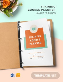 Training Course Planner Template