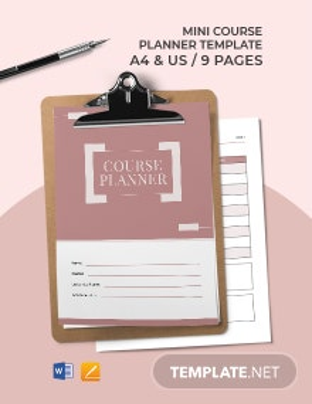Mini Course Planner Template