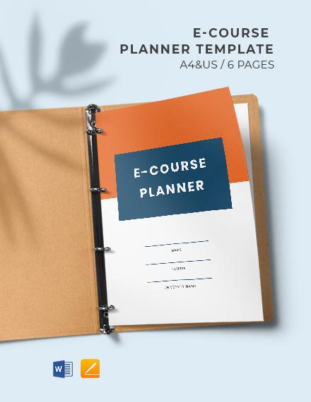E-Course Planner Template