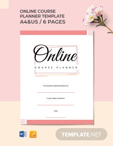 Online Course Planner Template