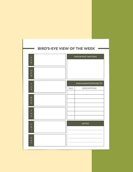 Editable High School Course Planner Download