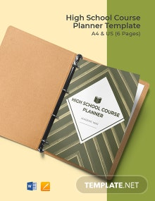 Free Editable High School Course Planner Template
