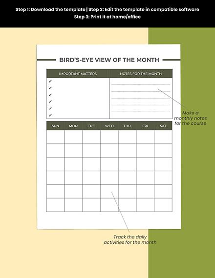 Editable High School Course Planner Printable