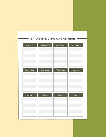 Editable High School Course Planner Sample