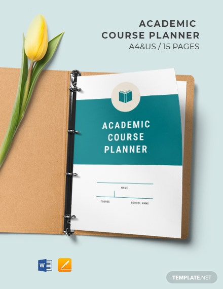 Free Sample Weekly Academic Planner Template