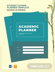 Student Course Planner Template