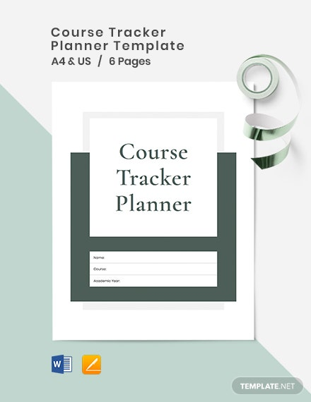 Course Tracker Planner Template