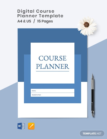 Digital Course Planner Template
