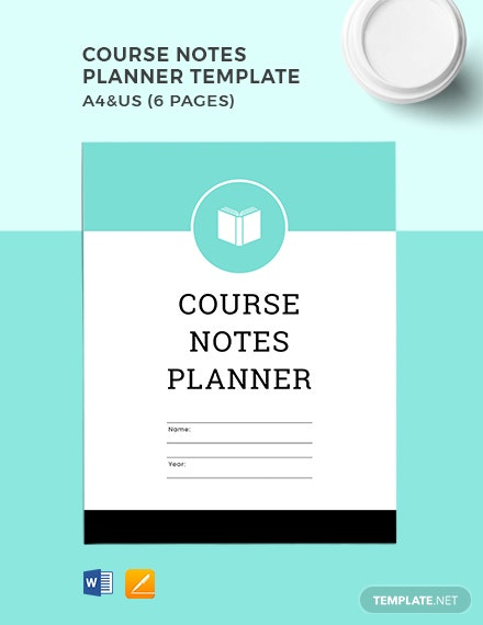 Course Notes Planner Template