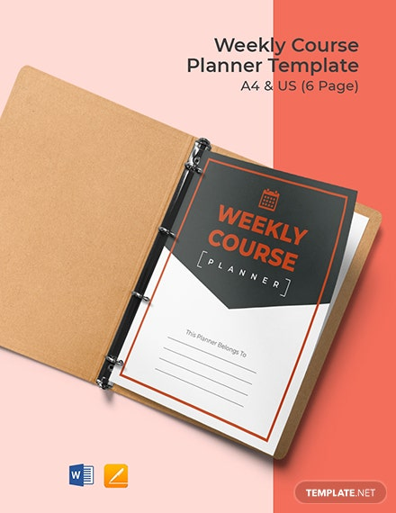Weekly Course Planner Template
