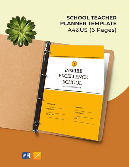 School Teacher Planner Template