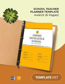 School Teacher Planner Template