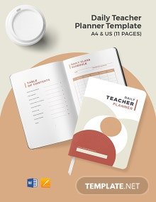 Daily Teacher Planner Template