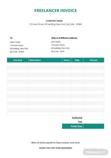 Free Invoice Templates Download ReadyMade Templatenet - How to make an invoice for your company