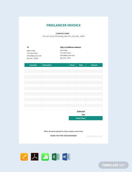 Freelancer Invoice Template
