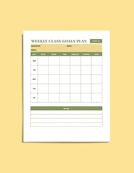 Teacher Lesson planner download