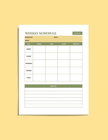 Teacher Lesson planner format