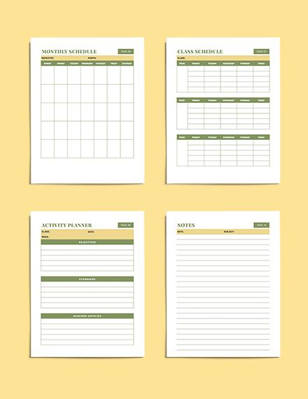 Teacher Lesson planner downloadable