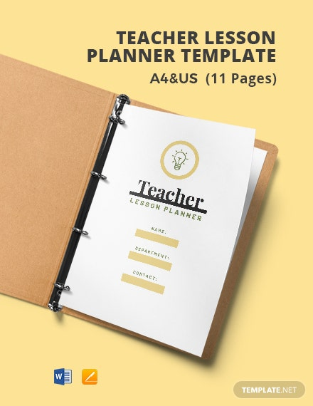 Teacher Lesson Planner Template