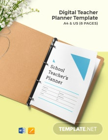 Digital Teacher Planner Template