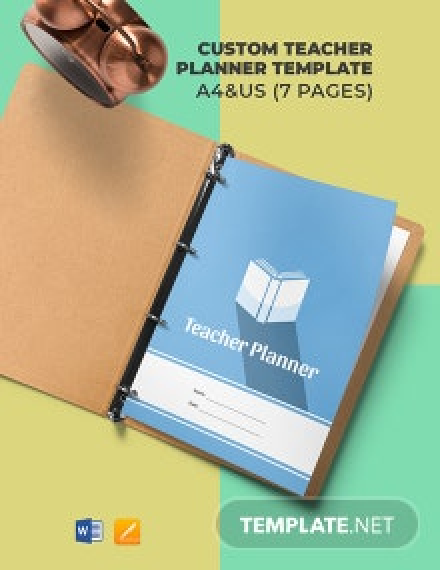 Custom Teacher Planner Template