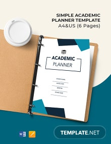 Free Simple Academic Planner Template