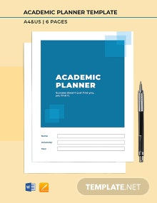 Free Printable Academic Planner Template