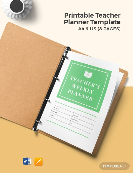 Free Printable Teacher Planner Template