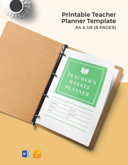 Free Printable Teacher Planner Template
