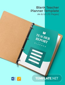 Free Blank Teacher Planner Template