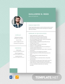 Health Editor Resume Template