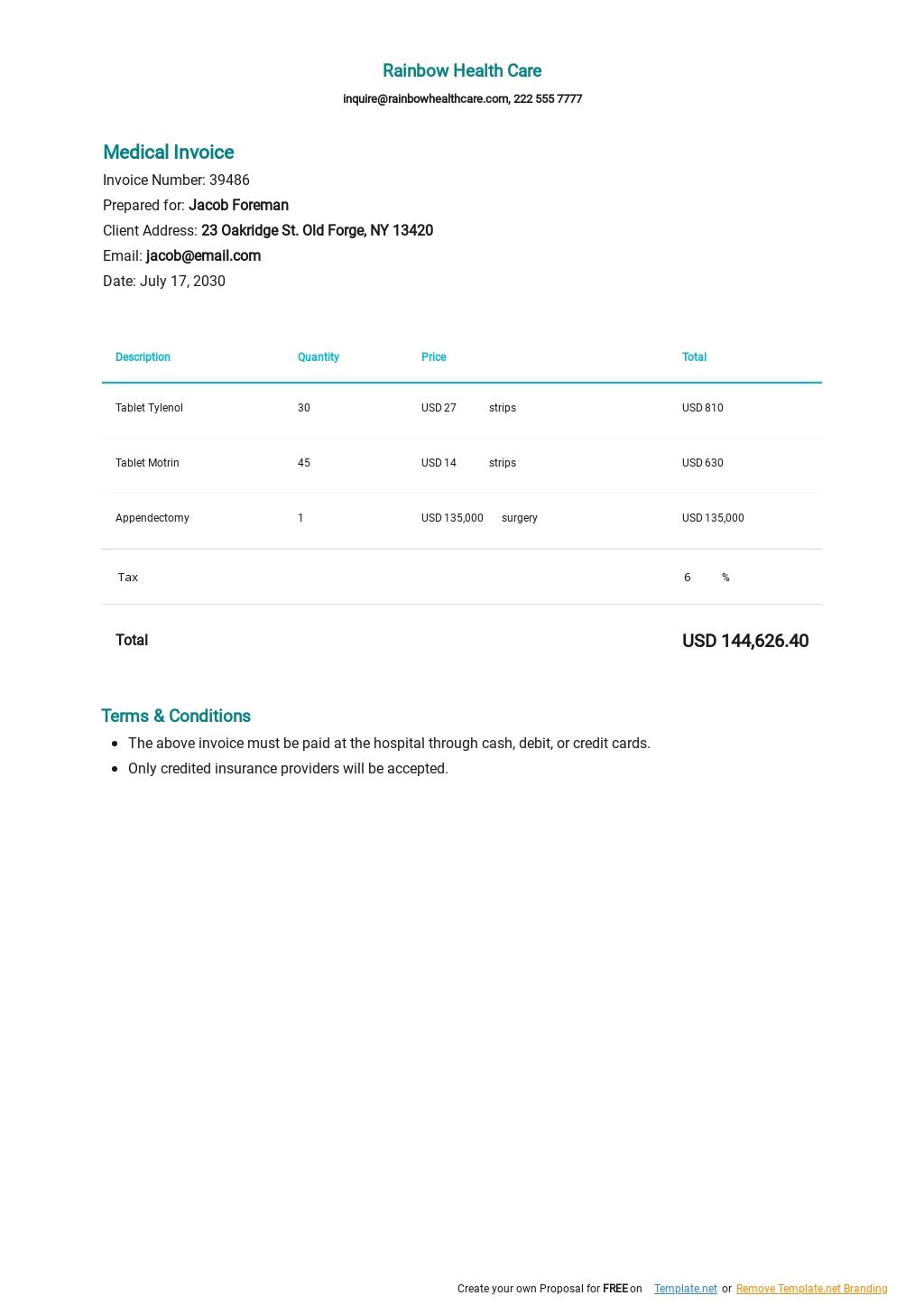 Sample Medical Invoice Template.jpe