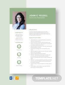 Recreation Programmer Resume Template