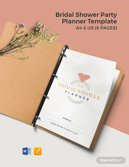 Bridal Shower Party Planner Template