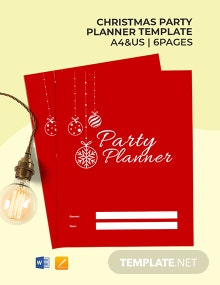 Christmas Party Planner Template