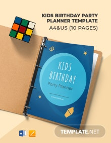 Kids Birthday Party Planner Template