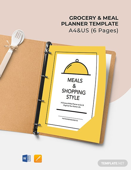 Grocery & Meal Planner Template