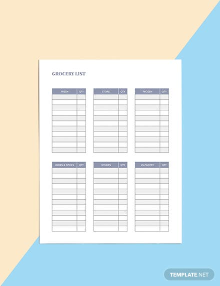 Family Meal Planner Template Printable